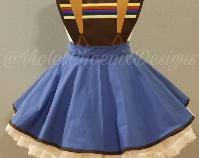 COMMISSION: 14th Doctor Who Inspired Retro Pin Up Apron Pinafore