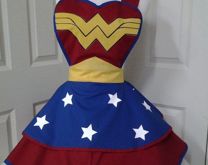 COMMISSION: Female SuperHero Cosplay Retro Pin Up Apron