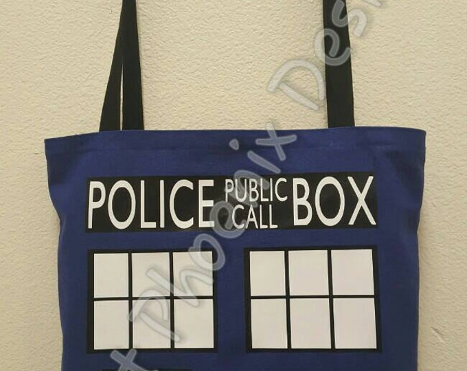 Police Box Reusable Tote/ Shopping Bag