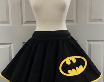 COMMISSION: Batman  Skirt (Assorted Colors Available)