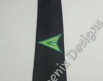 Superhero Green Arrow Necktie