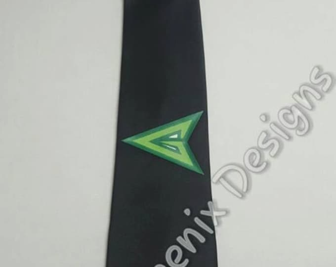 Superhero Green Arrow Necktie