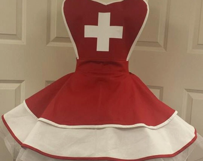 COMMISSION: Nurse Fandom Cosplay Retro Pin Up Apron