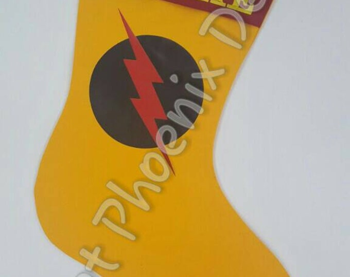 Reverse Flash Holiday Stocking