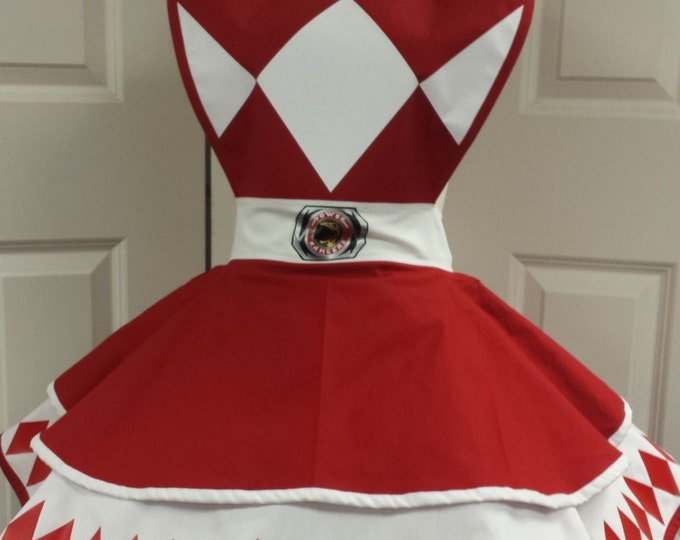 COMMISSION: Red Power Guardian Retro Cosplay Apron