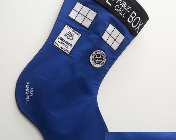 Police Box Holiday Stocking