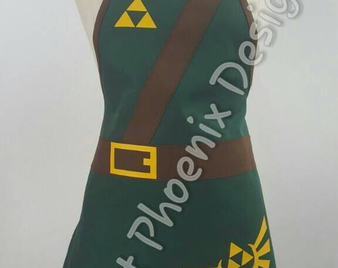 READY-TO-SHIP: Video Game Cosplay Fandom Simple Apron