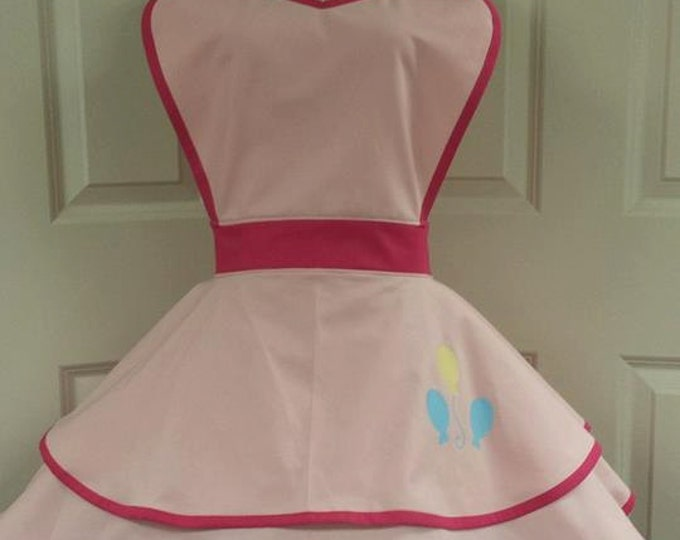 READY-TO-SHIP: Pink Cutie Fandom Cosplay Retro Pin Up Apron