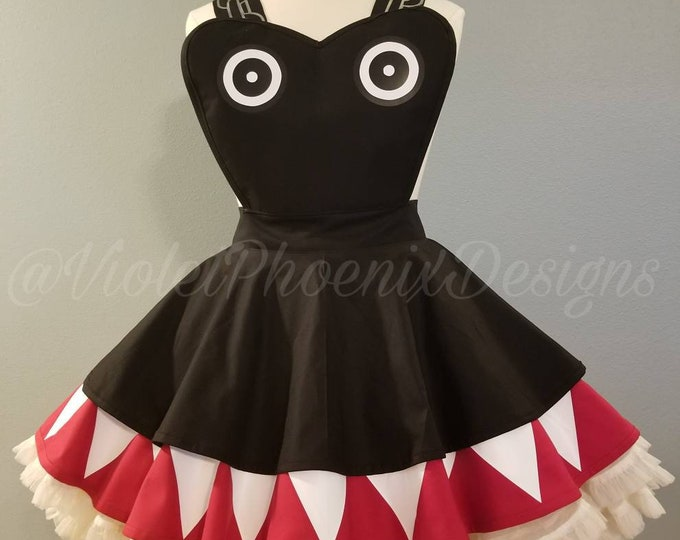 COMMISSION: Chompette Inspired Retro Pin Up Apron Pinafore