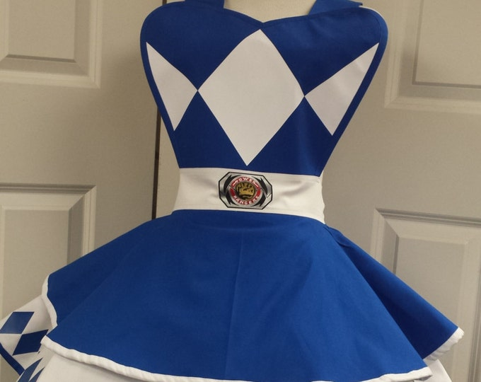 COMMISSION: Blue Power Guardian Retro Cosplay Apron