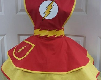 COMMISSION: Comic Super Hero Cosplay Retro Pin Up Apron