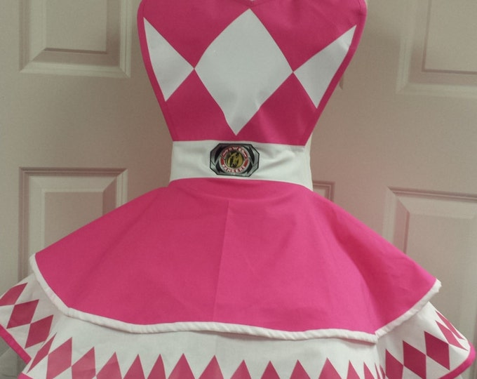 COMMISSION: Pink Power Guardian Retro Cosplay Apron