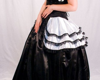 Satin Bustle and Opera Shrug Set (Multiple colors avaliable)
