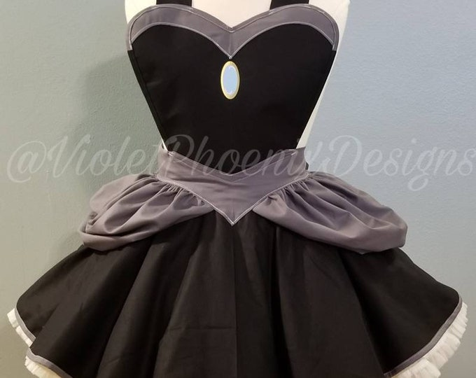 READY-TO-SHIP: Bowsette Inspired Retro Pin Up Apron Pinafore