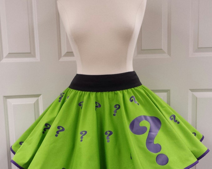 COMMISSION: Questions  Skirt (Assorted Colors Available)