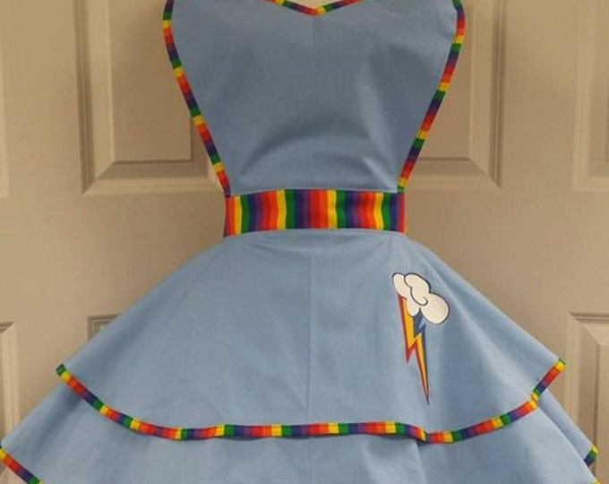 COMMISSION: Rainbow Cutie Fandom Cosplay Retro Pin Up Apron