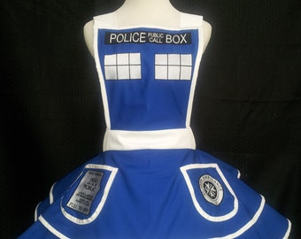 YEAR END SALE: 25-29 inch waist Police Box Apron
