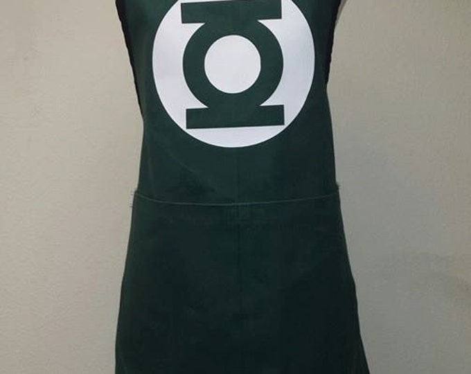 COMMISSION: Green Lantern Cosplay Fandom Simple Apron