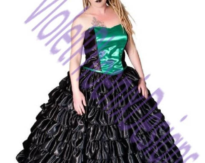 Nine Layer Ruffled Gothic Skirt and Corset