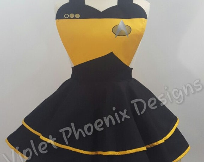 COMMISSION: Star Trek Inspired Cosplay Retro Pin Up Apron