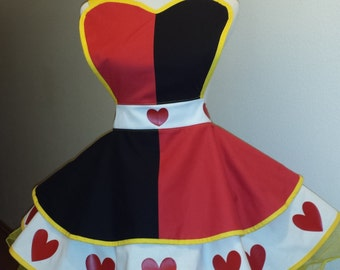 COMMISSION: Queen of Hearts 3 Fandom Cosplay Retro Pin Up Apron