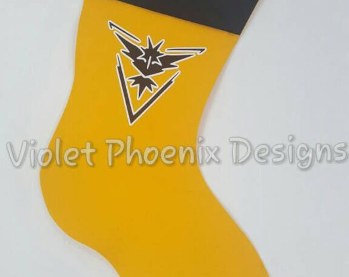 POGO Team Instinct Holiday Stocking