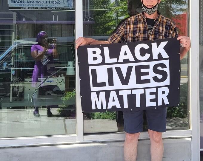 Handmade Black Lives Matter Flag/Banner