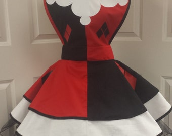 YEAR END SALE: 20-24 inch waist  Harley Quinn Retro Cosplay Apron
