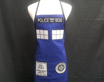 COMMISSION: Police Box Apron (simple)