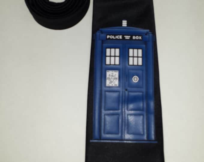 Police Box Mens NeckTie