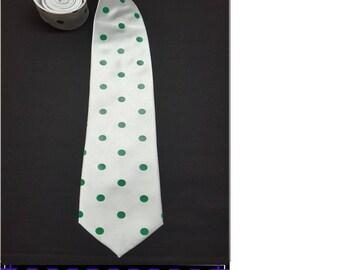 Green Polka dots Necktie