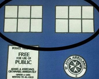 Police Box Windows Sew on Patch