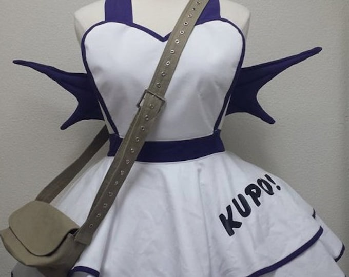 READY-TO-SHIP: Last Illusion Moogle Cosplay Retro Pin Up Apron