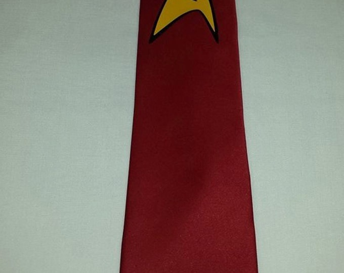 Red Shirt Engineering Insignia Mens NeckTie