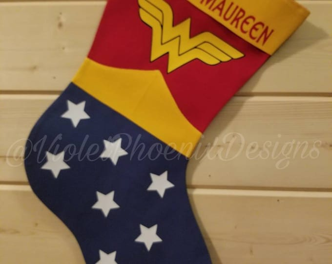 Female Superhero Holiday Stocking