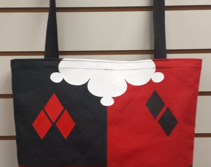 Harley Quinn Cosplay Reusable Tote/ Shopping Bag
