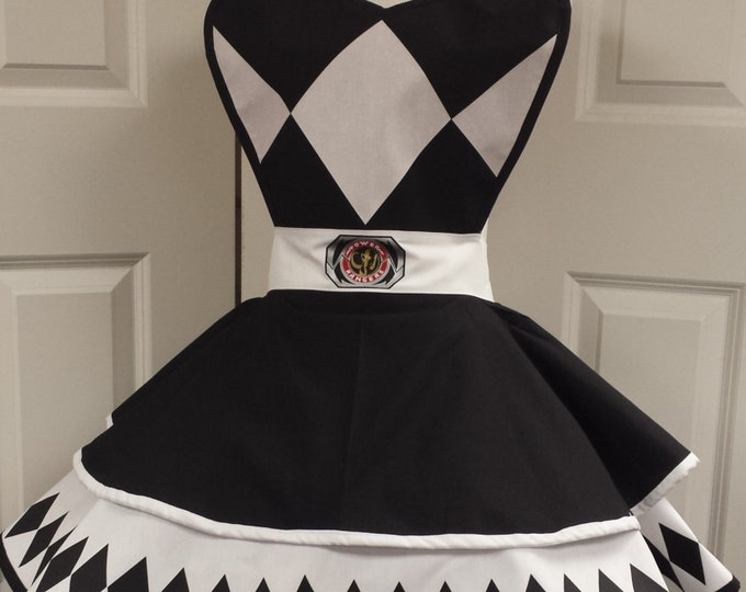 COMMISSION: Black Power Guardian Retro Cosplay Apron