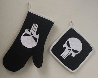 Potholder and Oven Mitt Set