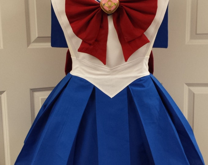COMMISSION: Magical Moon Girl Cosplay Retro Pin Up Apron Pinafore