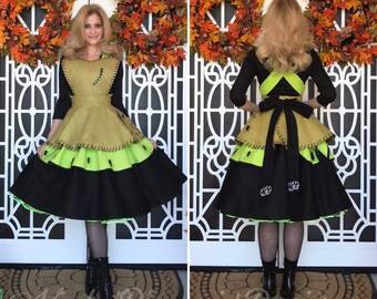 YEAR END SALE: Oogie Boogie Retro Pin Up Apron Pinafore (Plus Size)