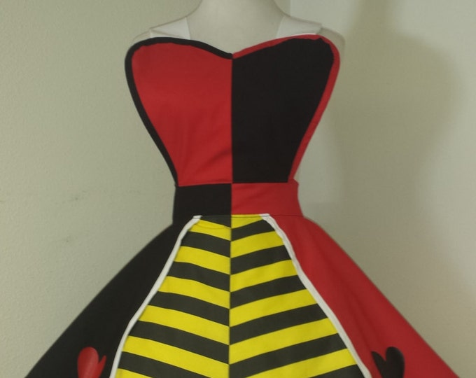 COMMISSION: Queen of Hearts Fandom Cosplay Retro Pin Up Apron