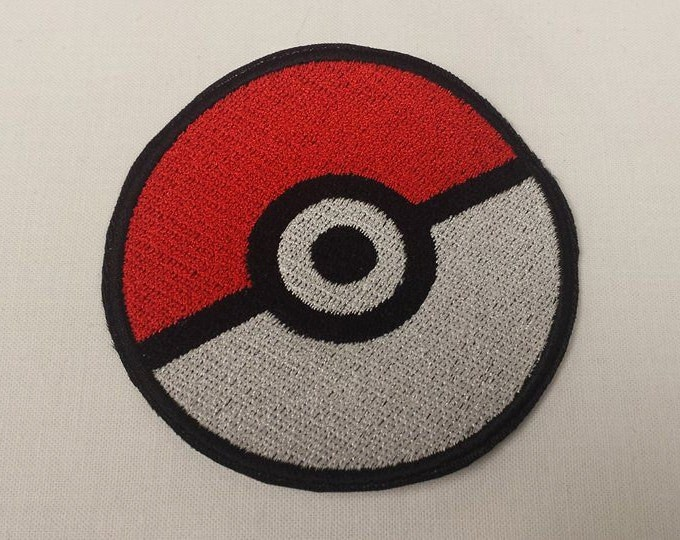Pokeball Sew on Patch
