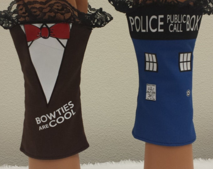 Police Box BowTie Fingerless Gloves