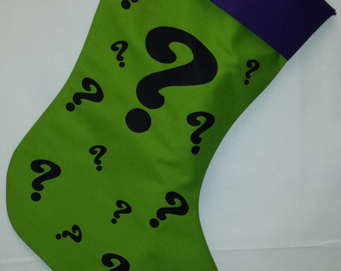 Riddle Me This Holiday Stocking