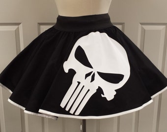 COMMISSION: Punisher  Skirt (Assorted Colors Available)