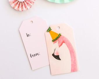 Flamingo Gift Tag