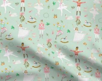 Aqua Nutcracker Fabric- By the Yard