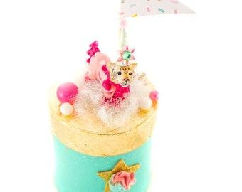Tiger Party Podium- centerpiece, party decor, cake topper