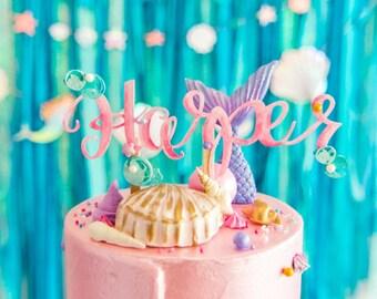 Mermaid Name Cake Topper
