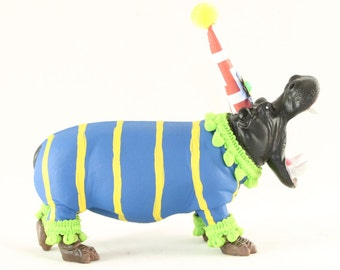"""Party Animal """"Willy"""" The Hippo- painted carnival, circus, and birthday decor"""
